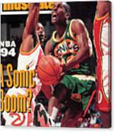 Seattle Supersonics Gary Payton... Sports Illustrated Cover Canvas Print