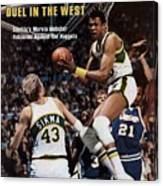 Seattle Supersonics Marvin Webster, 1978 Nba Western Sports Illustrated Cover Canvas Print