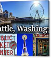 Seattle Washington Waterfront 01 Canvas Print