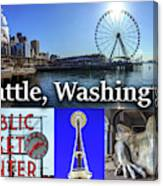 Seattle Washington Waterfront 02 Canvas Print