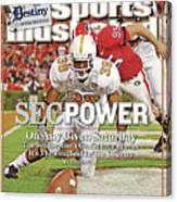 Sec Power On Any Given Saturday The Southeastern Conference Sports Illustrated Cover Canvas Print