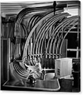 Secretary With Pneumatic Tube Canvas Print