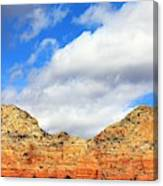 Sedona Jack's Trail Blue Sky, Clouds Red Rock Hills 5032 3 Canvas Print