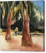 Seeking Shade Canvas Print