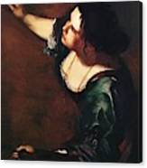 Self Portrait As The Allegory Of Painting 1639 Canvas Print