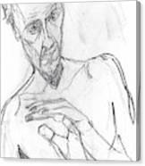Self-portrait Pencil Reach 11 Canvas Print