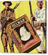 Servicemen Advertising Helmar Cigarettes Canvas Print