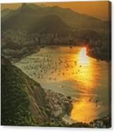 Setting Sun Over Botafogo Canvas Print