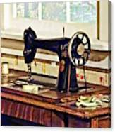 Sewing Machine In Kitchen Canvas Print