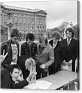 Sex Pistols Outside Buckingham Palace Canvas Print