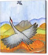 Shadoof Canvas Print