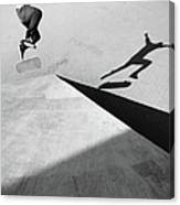 Shadow Of Skateboarder Canvas Print