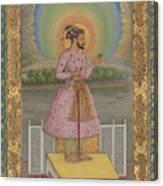 Shah Jahan On A Terrace Canvas Print