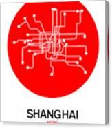 Shanghai Red Subway Map Canvas Print