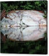 Shawanaga Rock And Reflections Iv Canvas Print