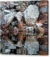 Shawanaga Rock And Reflections Vi Canvas Print