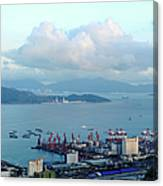 Shenzhen Bay And Shekou Port Canvas Print