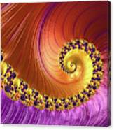 Shiny Purple And Gold Spiral Canvas Print