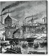 Shipyards And Shipping On The Clyde Canvas Print