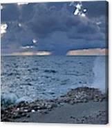 Shoreline Rain Clouds Canvas Print