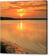 Shoreline Sunset Canvas Print