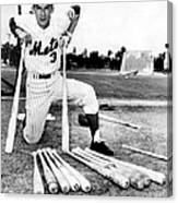 Shortstop Bud Harrelson With His Heavy Canvas Print