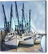 Shrimp Boats At Darien Canvas Print