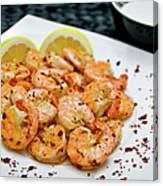 Shrimps With Chili Canvas Print