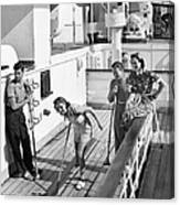 Shuffleboard Players Canvas Print