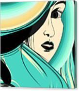 Shy Girl Canvas Print