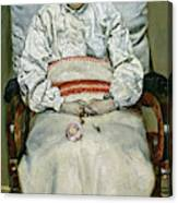 Sick Girl, 1881 Canvas Print