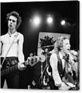 Sid Vicious And Johnny Rotten Canvas Print