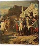 Siege De Yorktown Canvas Print