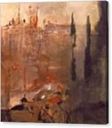 Siege Of A Castle 1910 Canvas Print