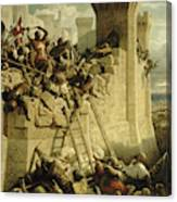 Siege Of Acre, 1291 Canvas Print