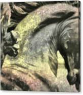 Silver And Gold  Art Canvas Print