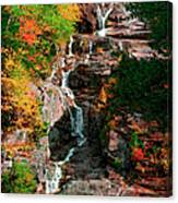 Silver Cascades In The White Mountains Canvas Print