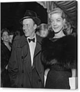 Sinatra & Bacall Canvas Print