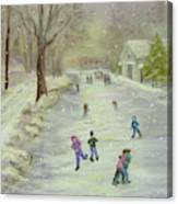 Skaters Canvas Print