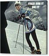 Skiing In Italy Sports Illustrated Cover Canvas Print
