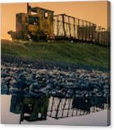 Sky Train Reflection Canvas Print