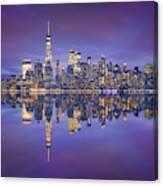 Skyline From Nj Canvas Print