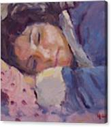 Sleeping Lady Canvas Print