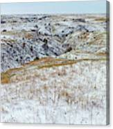 Slope County Snowfall Canvas Print