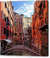 Small Canals In Venice Italy Canvas Print
