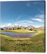 Small Lake In The Mountains Canvas Print