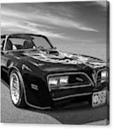 Smokey And The Bandit Trans Am In Mono Canvas Print