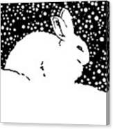 Snow Bunny Rabbit Holiday Winter Canvas Print