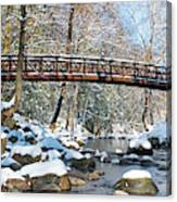 Snowy Bridge Canvas Print