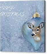 Snowy Deer Ornament Christmas Image Canvas Print